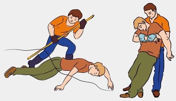 Первая помощь при поражении электрическим током - оказание и признаки травм